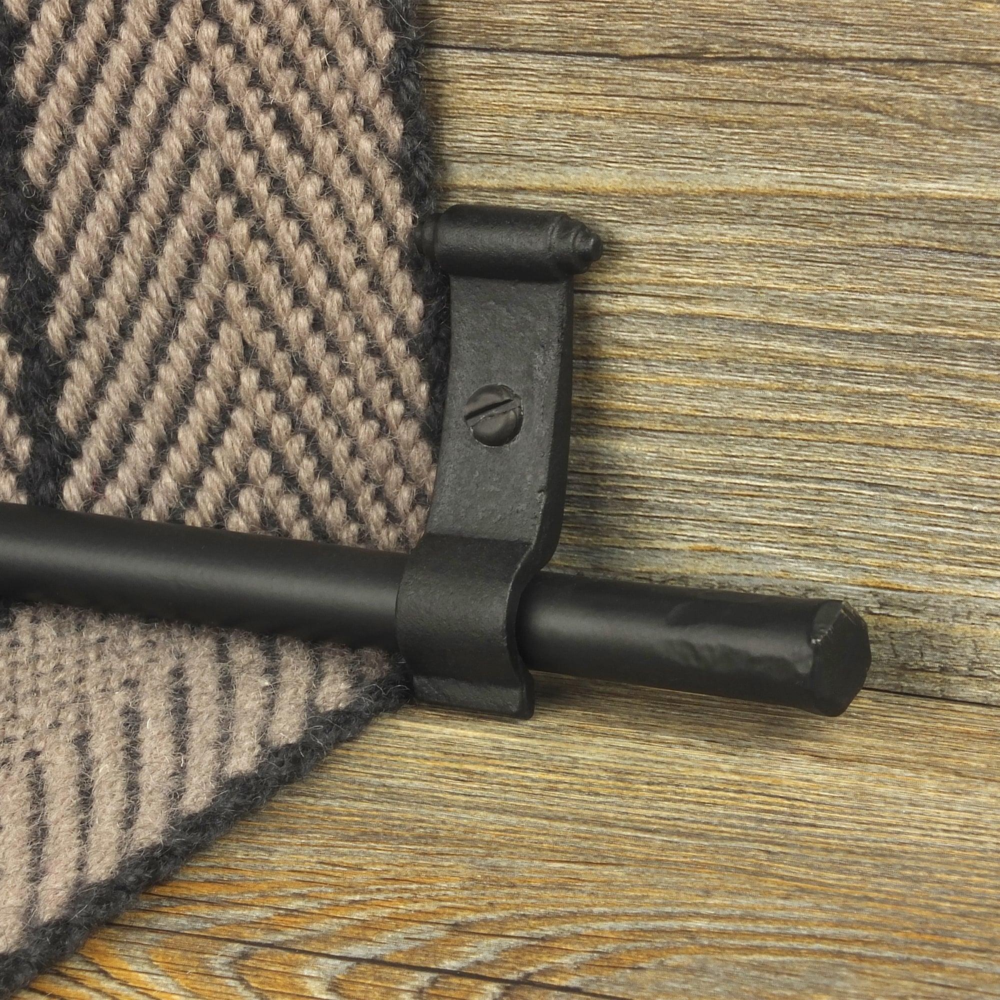 Blacksmith Black Flat Plain Stair Rod