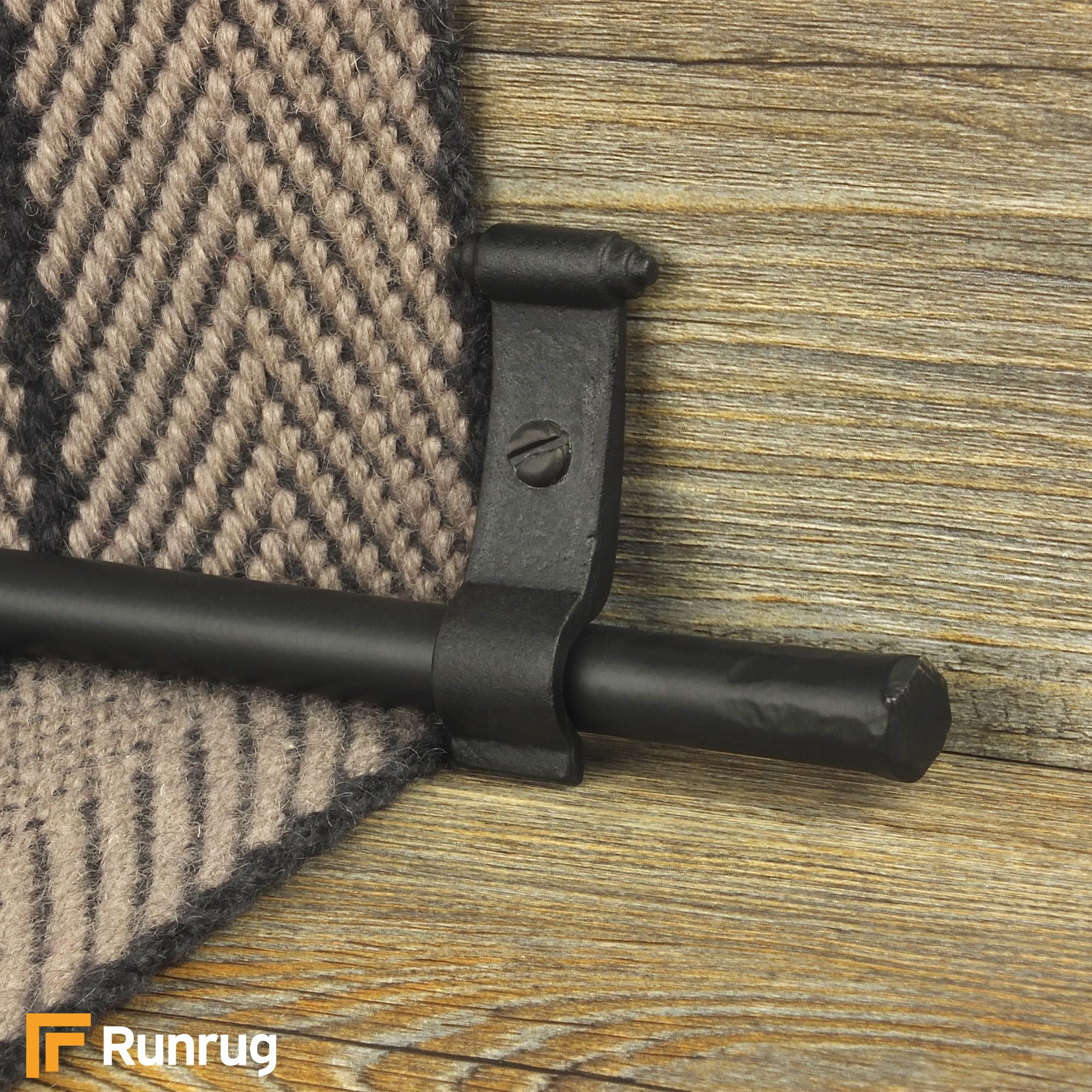 Elegant Blacksmith Black Flat Plain Stair Rod