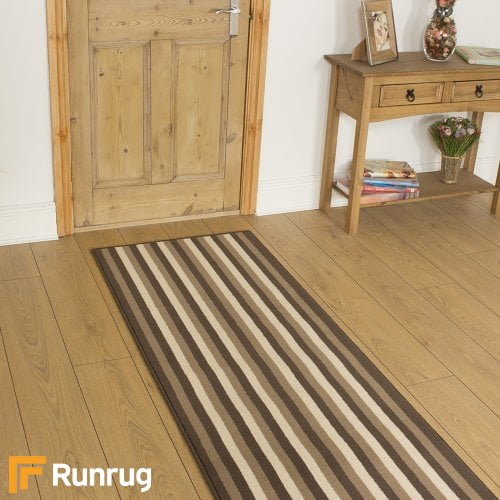 Broad 2 Brown Rug Runners