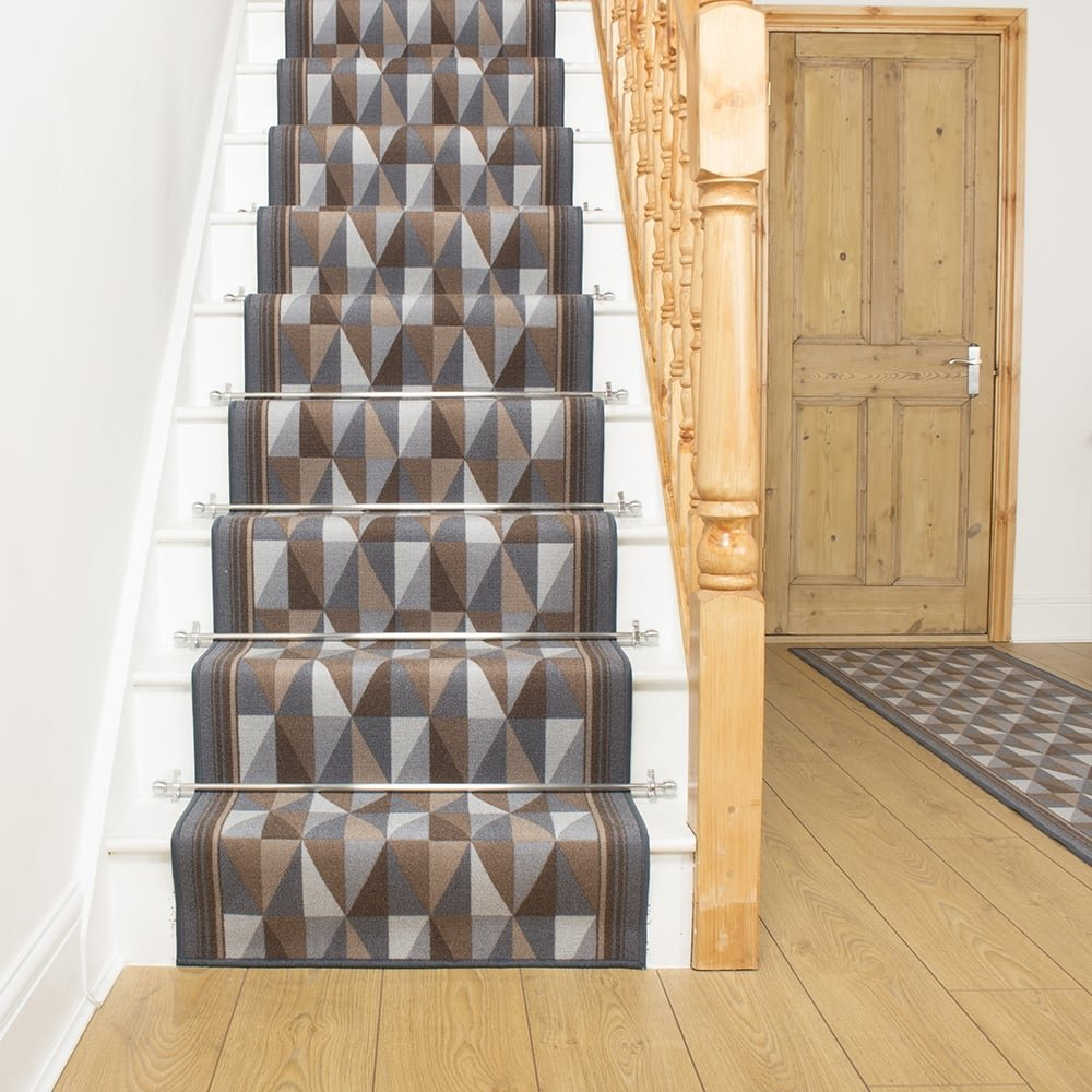 Graphite Stair Runner Rug Burly   Free Delivery Plus A U0027No Quibbleu0027 30 Day  Returns Policy
