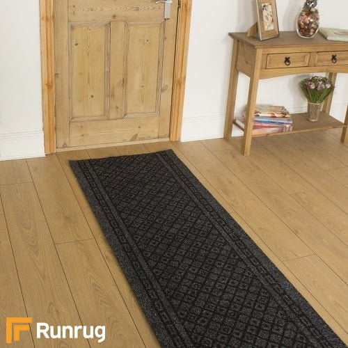 Conga Black Rug Runners