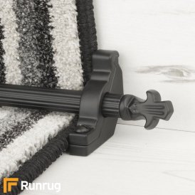 Country Black Bordeaux Reeded Stair Rod