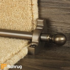 Country Bronze Balladeer Plain Stair Rod