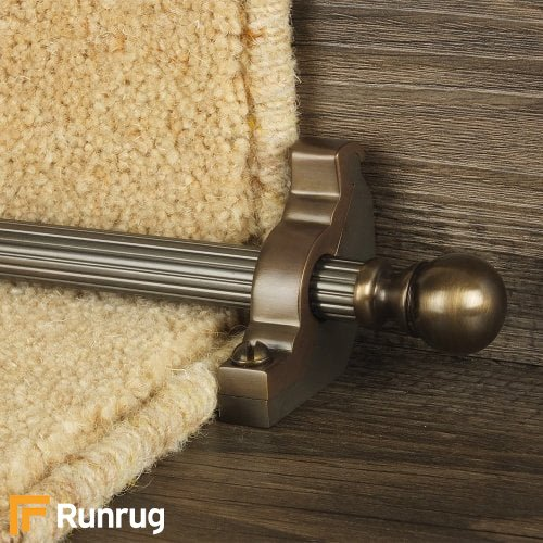 Country Bronze Balladeer Reeded Stair Rod