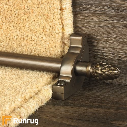 Country Bronze Finish Sherwood Plain Stair Carpet Runner Rods