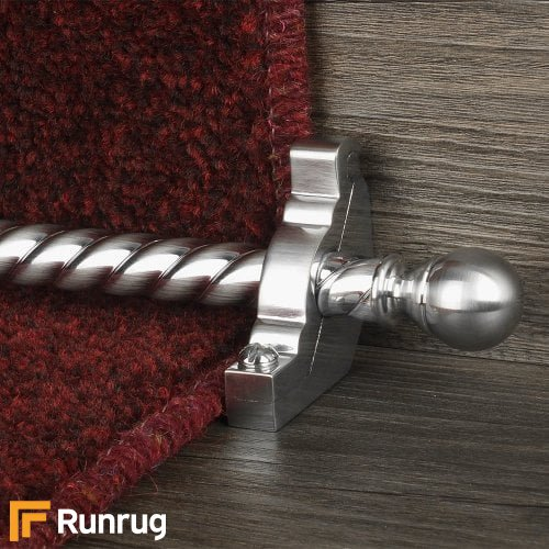 Country Brushed Chrome Balladeer Spiral Stair Rod