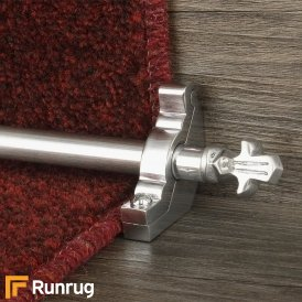 Country Brushed Chrome Bordeaux Plain Stair Rod