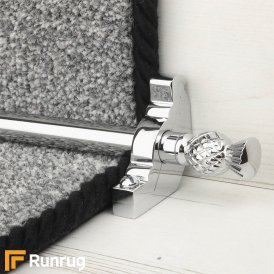Country Chrome Arran Plain Stair Rod