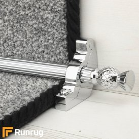 Country Chrome Arran Reeded Stair Rod
