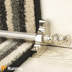 Country Polished Nickel Arran Reeded Stair Rod