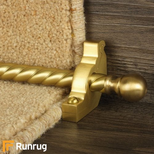 Country Satin Brass Finish Balladeer Spiral Stair Carpet Runner Rods