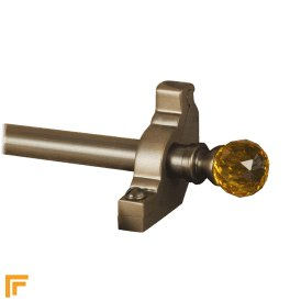 Crystal Antique Bronze Amber Plain Stair Rod