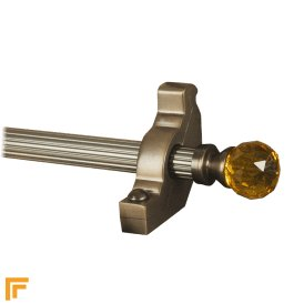Crystal Antique Bronze Amber Reeded Stair Rod