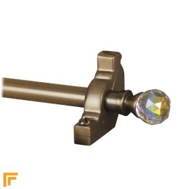 Crystal Antique Bronze Rainbow Plain Stair Rod