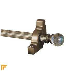Crystal Antique Bronze Rainbow Reeded Stair Rod