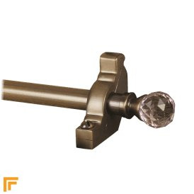 Crystal Antique Bronze Rose Plain Stair Rod