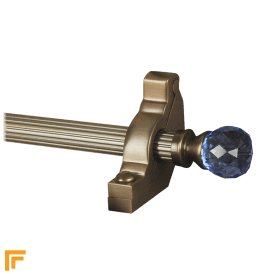 Crystal Antique Bronze Sky Reeded Stair Rod