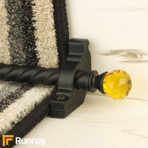 Crystal Black Amber Spiral Stair Rod