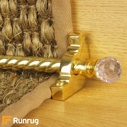 Crystal Brass Rose Spiral Stair Rod