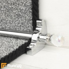 Crystal Chrome Rainbow Plain Stair Rod