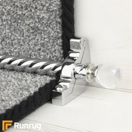 Crystal Chrome Rainbow Spiral Stair Rod