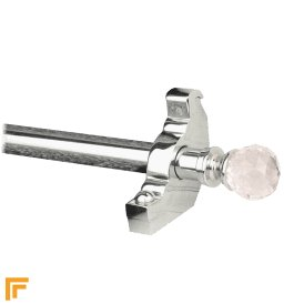 Crystal Chrome Rose Plain Stair Rod