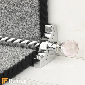 Crystal Chrome Rose Spiral Stair Rod