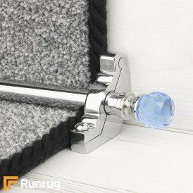 Crystal Chrome Sky Plain Stair Rod