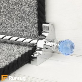 Crystal Chrome Sky Spiral Stair Rod