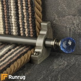 Crystal Pewter Sky Plain Stair Rod