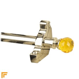 Crystal Polished Nickel Amber Plain Stair Rod