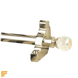 Crystal Polished Nickel Rainbow Plain Stair Rod