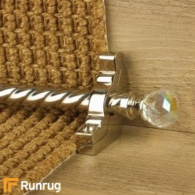 Crystal Polished Nickel Rainbow Spiral Stair Rod