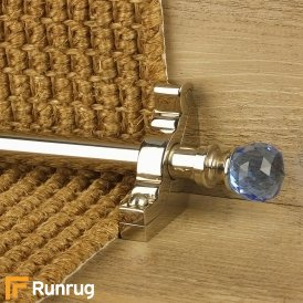 Crystal Polished Nickel Sky Plain Stair Rod