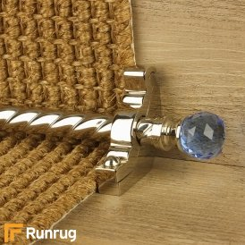 Crystal Polished Nickel Sky Spiral Stair Rod