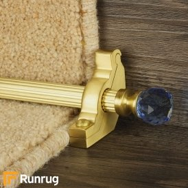 Crystal Satin Brass Sky Reeded Stair Rod