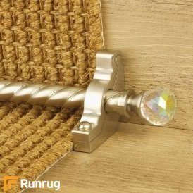 Crystal Satin Nickel Rainbow Spiral Stair Rod