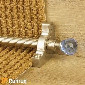 Crystal Satin Nickel Sky Spiral Stair Rod
