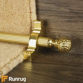 Eastern Promise Brass Dune Reeded Stair Rod