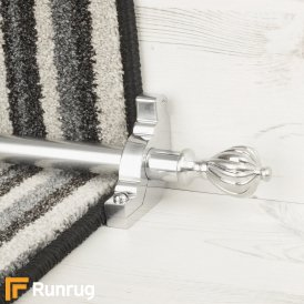 Eastern Promise Brushed Chrome Cairo Plain Stair Rod