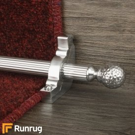Eastern Promise Brushed Chrome Dune Reeded Stair Rod