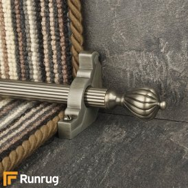 Eastern Promise Pewter Cairo Reeded Stair Rod