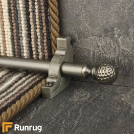Eastern Promise Pewter Dune Plain Stair Rod