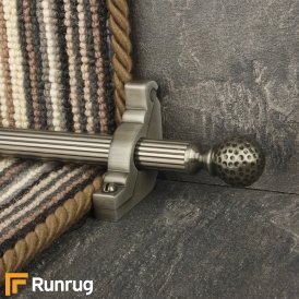 Eastern Promise Pewter Dune Reeded Stair Rod