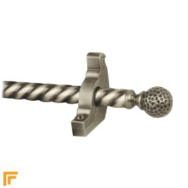 Eastern Promise Pewter Dune Spiral Stair Rod