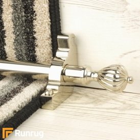 Eastern Promise Polished Nickel Cairo Plain Stair Rod
