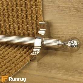 Eastern Promise Polished Nickel Dune Reeded Stair Rod
