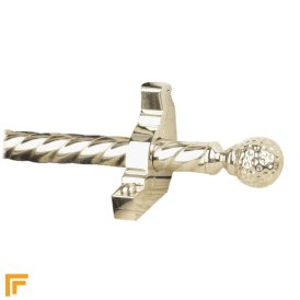 Eastern Promise Polished Nickel Dune Spiral Stair Rod