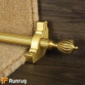 Eastern Promise Satin Brass Cairo Reeded Stair Rod