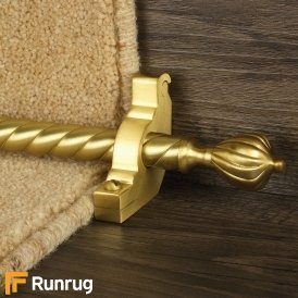 Eastern Promise Satin Brass Cairo Spiral Stair Rod